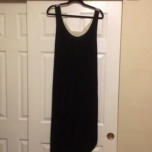 Hi-Low Soft Black Dress